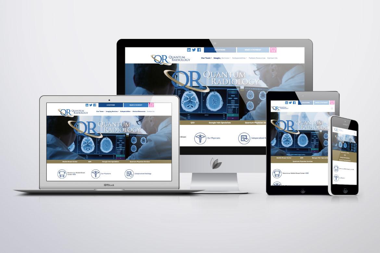 Quantum Radiology Responsive Website
